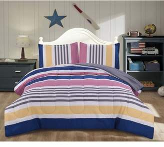 Mainstays Kids Preppy Stripe Comforter Set