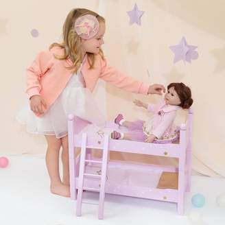 "Olivia's Little World - Twinkle Stars Princess 18"" Doll Double Bunk Bed"