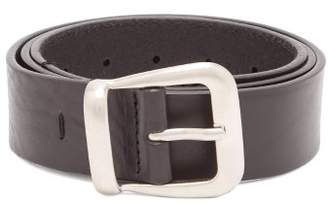 Maison Margiela Classic Leather Belt - Mens - Black