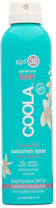 Coola Eco-Lux Body SPF 30 Unscented Sunscreen Spray.