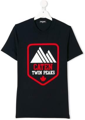 DSQUARED2 TEEN Twin Peaks print T-shirt