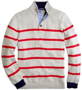 Brooks Brothers Supima Cotton Stripe Mockneck Sweater