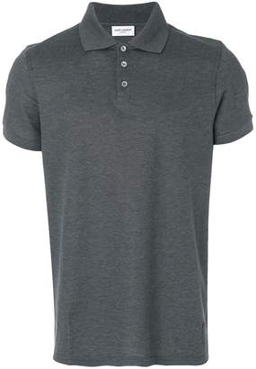 Saint Laurent fitted polo top