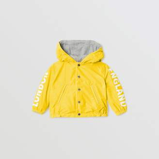 Burberry Childrens Reversible Logo Print Hooded Jacket