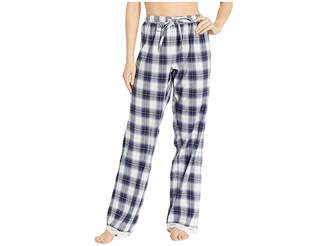 True Grit Dylan by Soft Shadow Plaid PJ Pants with Lace Hem