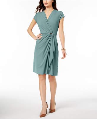 Charter Club Petite Faux-Wrap Dress