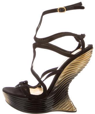 Alexander McQueenAlexander McQueen Wave Wedge Sandals