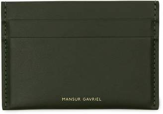 Mansur Gavriel Calf Credit Card Holder - Moss