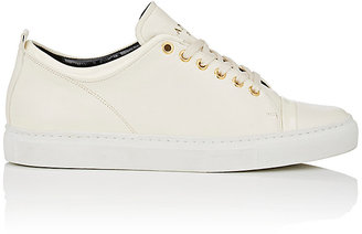 Lanvin Women's Leather Low-Top Sneakers $595 thestylecure.com