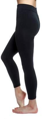 Love Charm Women's Seamless Fleece Lined Basic Leggings, Black, 1-Pack