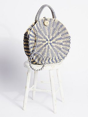 Waikiki Straw Tote by Gracie Roberts at Free People $58 thestylecure.com