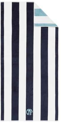 Pottery Barn Reversible Awning Stripe Beach Towel - Navy/Seabreeze