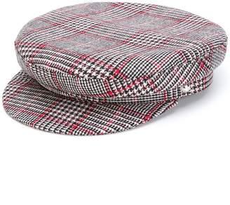 Manokhi houndstooth baker boy hat