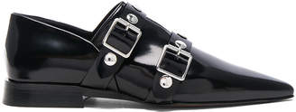 Victoria Beckham Leather Buckle Flats