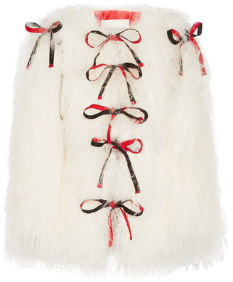 Sandy Liang - Lambeaux Convertible Shearling Coat - Ivory