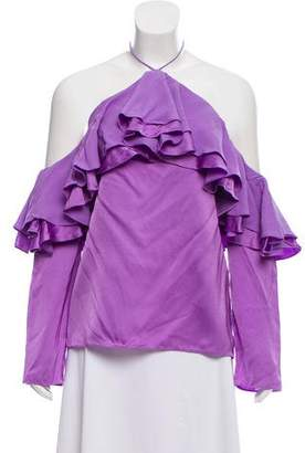 Emilio Pucci Long Sleeve Halter Top w/ Tags