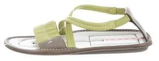 Prada Sport Crossover Strap Sandals