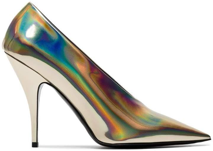 Stella McCartney holographic Gold 105 pumps