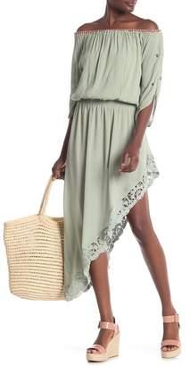 Muche et Muchette Off-the-Shoulder High\u002FLow Midi Dress