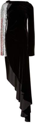 Monse Velvet Embellished Flare Gown