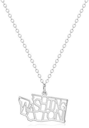 Kris Nations Indiana -Plated State Necklace