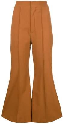 Chloé bell bottom trousers