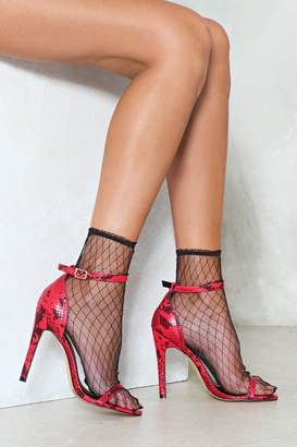 Nasty Gal Whatever It Snakes Stiletto Heel