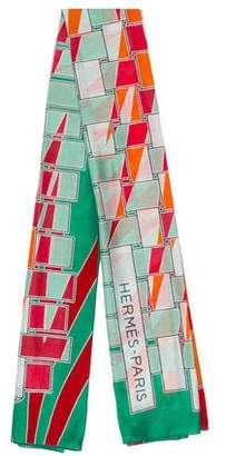 Hermes A L'Ombre Des Palmes Printed Scarf w/ Tags