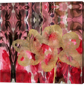Braun Daisy Abstract by Lisa Powell Canvas Art