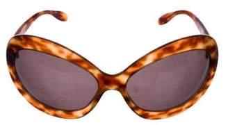 Salvatore Ferragamo Oversize Tortoiseshell Sunglasses