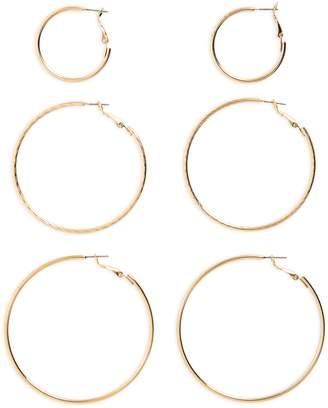 BP 3-Pack Hoop Earrings