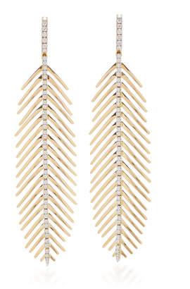 Möve Sidney Garber Diamond Spine Feathers That In Yellow Gold