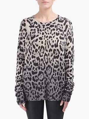 360 Sweater Juliana Leopard Print Cashmere Jumper, Multi