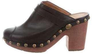 Chanel Studded Platform Clogs