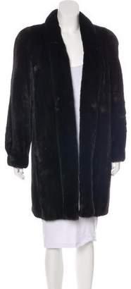 Lanvin Mink Knee-Length Coat