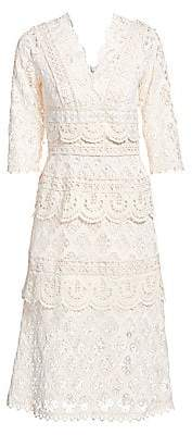 Sea Women's Laurel Lace Tiered Midi Dress