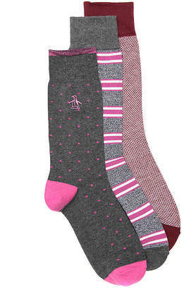 Original Penguin Dot Crew Socks - 3 Pack - Men's