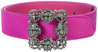 Manolo Blahnik crystal embellished belt