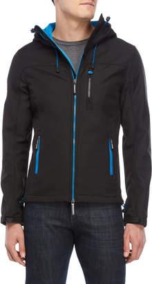 Superdry Black Hooded Windtrekker Jacket
