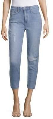 Joe's Jeans Sadie High-Rise Cut Hem Cropped Jeans