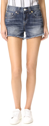 True Religion Kori High Rise Boyfriend Shorts $159 thestylecure.com