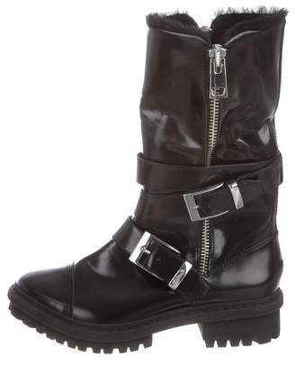 Rachel Zoe Leather Moto Boots