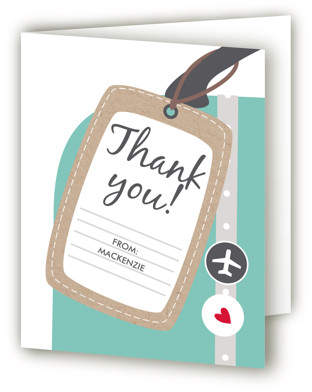 Bon Voyage Farewell Party Thank You Cards