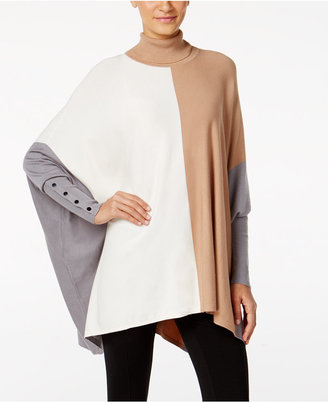 Alfani Colorblocked Turtleneck Poncho, Only at Macy's $59.50 thestylecure.com