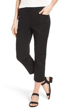 Women's Cece Crop Stretch Cotton Pants $79 thestylecure.com