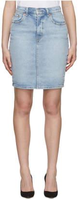Levi's Levis Blue Denim Essential Miniskirt
