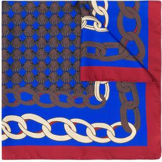 Marni colour-block chain print scarf