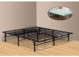 ONLINE King Size Metal Platform Bed Frame, Black