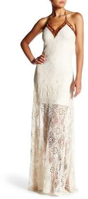 Sky Mizuki Crochet Maxi Dress