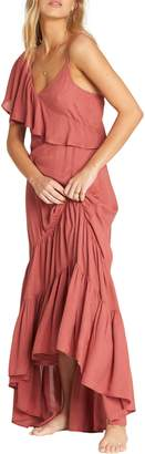 Billabong Kiss to Tell One-Shoulder Maxi Dress